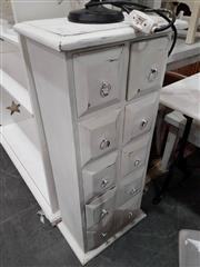Sale 8912 - Lot 1087 - White Painted Mahogany Slim Chest of Ten Drawers