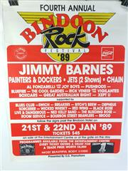 Sale 8960M - Lot 24 - Fourth Annual Bindoon Rock Festival 1989 Promotional Poster (L: 101cm W: 76.5cm)
