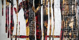 Sale 9096 - Lot 566 - Alison Coulthurst Life - A Passionate Affair oil on canvas 152 x 300 cm signed and itled on stretcher bar verso