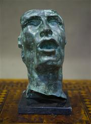 Sale 7968B - Lot 75 - Mask of Sorrow, Bronze sculpture after Rodin, height 30cm
