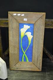 Sale 8013 - Lot 1008 - Floral Oil On Board With A Good Rustic Frame