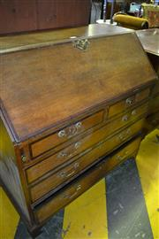 Sale 8093 - Lot 1796 - Georgian Oak Bureau with Fitted Interior above Five Drawers (key in office)