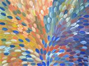 Sale 8126A - Lot 570 - Gloria Petyarre (c.1945 -) - Bush Medicine Leaves 150 x 200cm (framed and ready to hang)