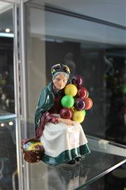 Sale 8296 - Lot 1 - Royal Doulton The Old Balloon Seller Figure