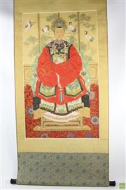 Sale 8546 - Lot 54 - Chinese Scroll Depicting Empress