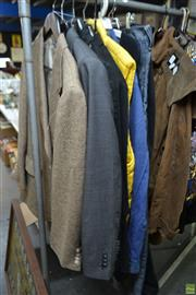 Sale 8563T - Lot 2257 - 10 Items of Clothing; 4 Jackets, a Vest, a Shirt, a Sweater & 3 Pairs of Pants with Labels incl Ralph Lauren & Paul Costelloe