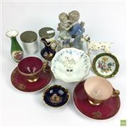 Sale 8648A - Lot 174 - Coalport Egg Coddlers with Other Ceramics incl. Beswick Dalmatian (tail AF)