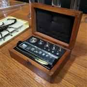 Sale 8758 - Lot 211A - Complete Set of Vintage Plated Brass Laboratory Masses in a wood case