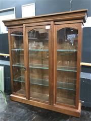 Sale 8809 - Lot 1001 - Timber and Glass Display Case
