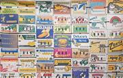 Sale 8908 - Lot 1002 - Wall Mural Banana Fruit Cartons, photograph, 304 x 186.5cm