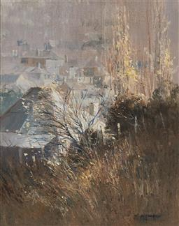Sale 9133 - Lot 578 - Colleen Parker (1944 - 2008) Carcoar Cottage & Beyond oil on board 49 x 39 cm (frame: 70 x 60 x 3 cm) signed lower right