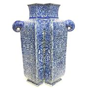 Sale 8292 - Lot 32 - Chien Lung Style Blue & White Siamese Vase