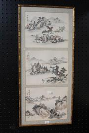 Sale 8362 - Lot 293 - Chinese Painting of a Mountain & River Scene (Height - 72cm)