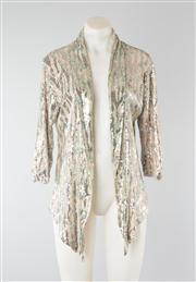 Sale 8740F - Lot 192 - An mbyM sequined jersey shawl-neck jacket with hankerchief hem, approx size medium