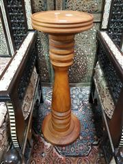 Sale 8744 - Lot 1015 - Turned Timber Pedestal