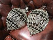 Sale 8795 - Lot 1080 - Pair of Basket Form Light Fittings