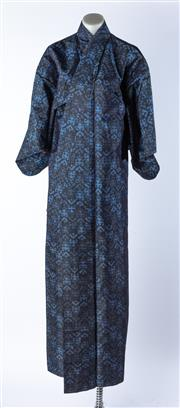 Sale 9003F - Lot 90 - A Vintage Black and Blue Silk Kimono