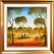 Sale 9015J - Lot 4 - Pro Hart - The Rabbiters 60x60cm