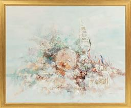 Sale 9099 - Lot 126 - Sandro Untitled - Abstract Mixed media on canvas Signed lower right and dated 69 100 x 123cm