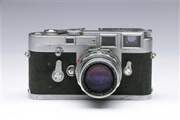 Sale 9093 - Lot 5 - A Leica M3 Camera, Fitted With Summicron Lens (1:2, f=5cm)