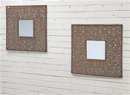 Sale 9102 - Lot 1100 - Pair of metal framed mirrors (h:70 x w:70cm)
