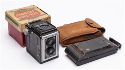 Sale 9170H - Lot 96 - A vintage brownie box camera together with others