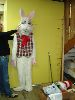 Sale 7490 - Lot 54 - 1 (AS NEW) WHITE FUR RABBIT COSTUME WITH BOW TIE