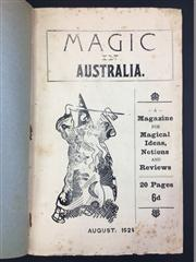 Sale 8539M - Lot 103 - Magic in Australia, edited by J. Albert Briggs. vol. 1 no. 1, Aug. 1924. Protective cover includes handwritten notes by Keith Abso...