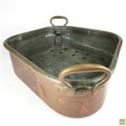 Sale 8550K - Lot 10 - Oblong French Copper Roasting Pan, 57cm wide including