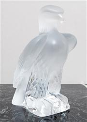 Sale 8650A - Lot 5 - A Lalique Liberty crystal eagle sculpture with engraved mark, height 24cm.