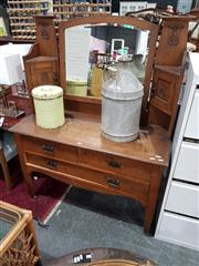 Sale 8740 - Lot 1097 - Mirrored Back Dressing Table