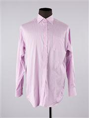 Sale 8770F - Lot 2 - A Thomas Pink cotton shirt in pink with white stripes, collar 17