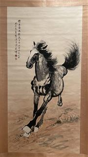 Sale 8951S - Lot 6 - Chinese Scroll of a Horse, Ink and Colour on Paper