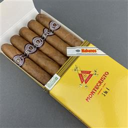Sale 9120W - Lot 1472 - Montecristo No. 4 Cuban Cigars - pack of 5, removed from box dated September 2019