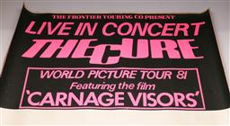Sale 9136 - Lot 15 - The Cure- Live In Concert, World Picture Tour 1981 Poster (101cm x 75cm) (Some wear to edges and folds)