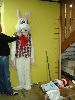 Sale 7490 - Lot 55 - 1 (AS NEW) WHITE FUR RABBIT COSTUME WITH BOW TIE
