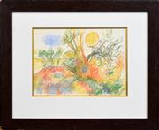 Sale 8266 - Lot 536 - John Perceval (1923 - 2000) - Summer Landscape, 1990 25 x 35cm