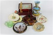 Sale 8391 - Lot 7 - Australian Pokerwork Panel with Other Wares incl Australian Themed Plates
