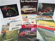 Sale 8900 - Lot 25 - Collection of Car Ephemera incl. Chrysler Sixes & Eights; Zeta by Lightburn; Fiat 1100T; Holden & Ford, etc