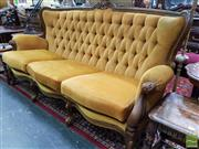 Sale 8465 - Lot 1023 - Timber Framed French Style 3 Seater Lounge