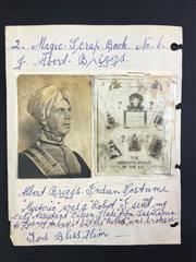 Sale 8539M - Lot 104 - Photographs of J. Albert Briggs in costume and Miss-terio, loose leaf from scrapbook no. 6, annotated by Keith Abson