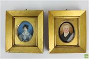Sale 8563 - Lot 175 - Ivory Painted Miniatures