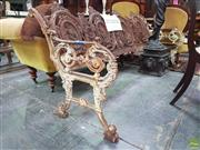 Sale 8617 - Lot 1006 - Rare Probably Victorian Cast Iron Pictorial Garden Bench, with four panels of farmers allegorical of the four seasons, the design or...