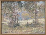 Sale 8759 - Lot 2018 - Reginald Rowe (1916 - 2010) - Wilbes Meadow 48 x 63cm