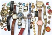 Sale 8783 - Lot 117 - A Group of Various Watches, Badges and Pins