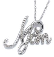 Sale 9046 - Lot 377 - A STERLING SILVER DIAMOND PENDANT NECKLACE; featuring a 19 x 22mm
