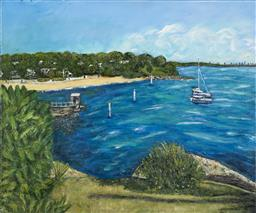 Sale 9187JM - Lot 5086 - STANLEY PERL (1942 - ) Camp Cove acrylic on cancas 51.5 x 61 cm signed and titled verso