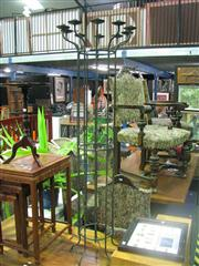 Sale 7974A - Lot 1024 - Wrought Iron 10 Branch Candelabra