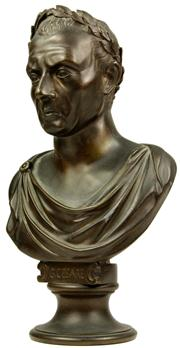 Sale 8065 - Lot 8 - Bronze Cast Bust of Gaius Julius Caesar