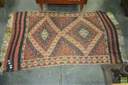 Sale 8312 - Lot 1074 - Kilim in Red and Blue Tones (155 x 95cm)